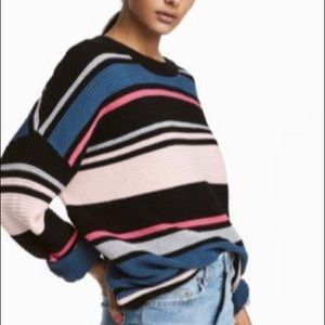 Divided by H&M Striped Sweater Sz L